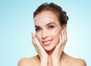 Woman Rejuvenating Her Face