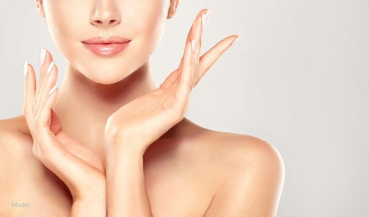 Woman with flawless skin that is possible with non-surgical facial rejuvenation.